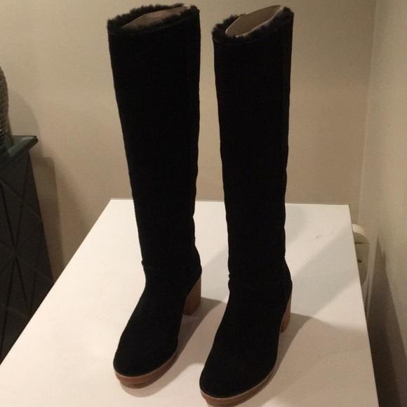 6e401468e4d ❤️New Ugg Kasen Tall Suede Black Boots sz 9 NWT